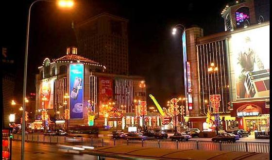 壁纸 步行街 街道 街景 商业街 夜景 560_330